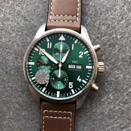 IWC REPLICA PILOT WATCH IW3777 WITH GREEN DIAL CLONE MOVEMENT