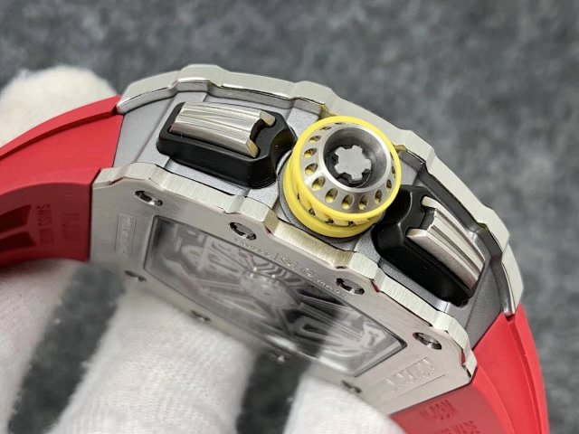 RICHARD MILLE REPLICA RM11-03 CRYSTAL SKELETON DIAL WITH RED RUBBER STRAP